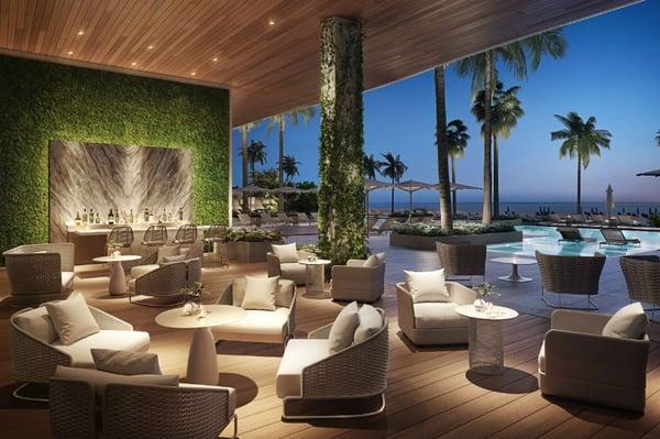 57 Ocean 迈阿密海滩泳池休息室