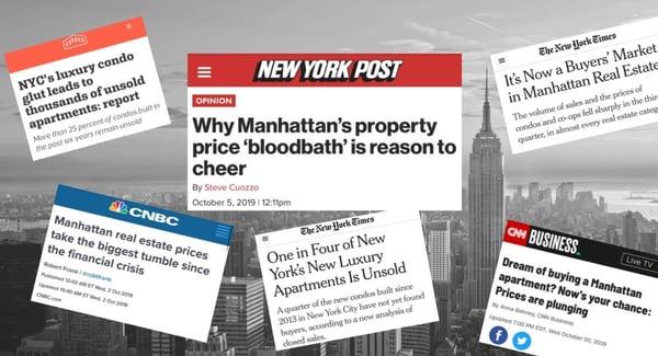 曼哈顿公寓价格市场放缓