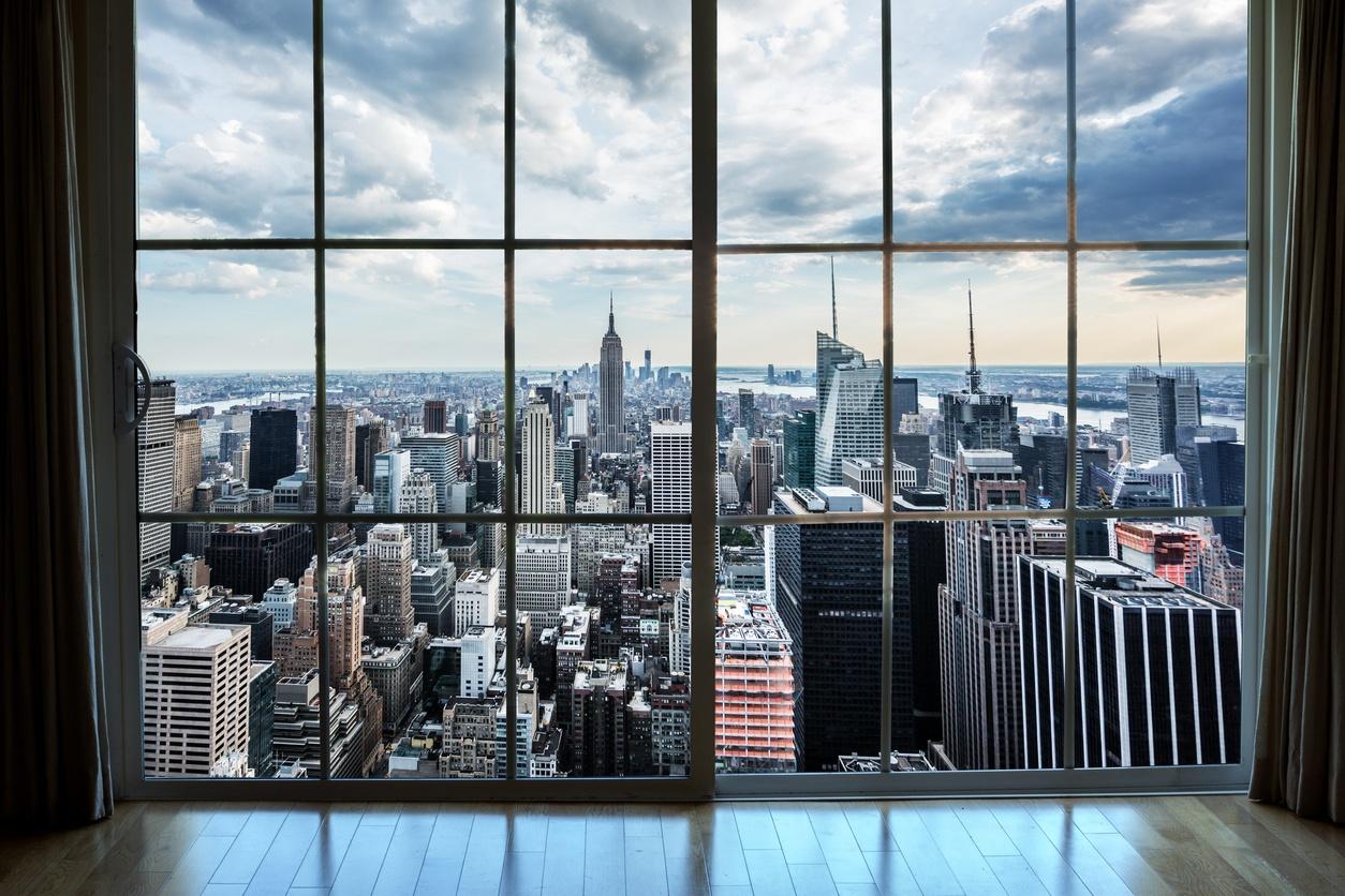 眺望曼哈顿房地产